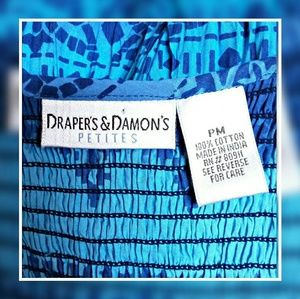 Draper's  & Damon's Dresses - Draper's & Damon's Blue Smocked Top Dress  Size PM